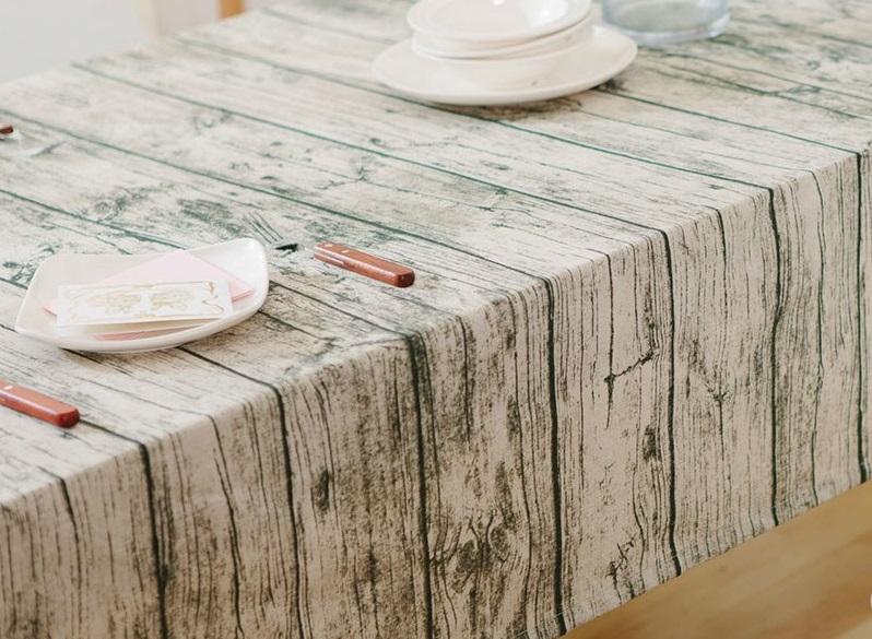 tafelzeil foto print hout