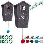 kookoo birdhouse klok zwart