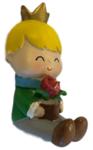 kinderkapstok haakje meisje kroon bloem