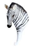 wandhaakje zebra kapstok