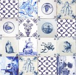tafelzeil delfts blauwe tegeltjes