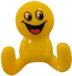 kinderkapstokje smiley geel