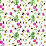 Ovaal tafelzeil bijen en bloemen