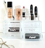 Make-up Organizer vierkant met lades klein_