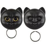 Qualy Neko kat sleutelhouder zwart_