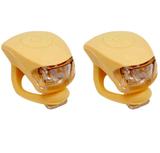 Urban Proof siliconen LED fietslampjes okergeel_