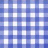 Rond tafelzeil grote ruit blauw (140cm)_