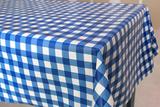 Ovaal tafelzeil grote ruit blauw_