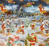 Ovaal Kerst tafelzeil winter wonderland_