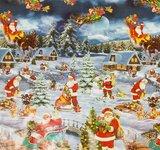 Rond Kerst tafelzeil winter wonderland (140cm)_