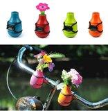 bloemen fiets vaas