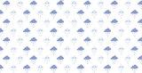Statisch raamfolie wolkjes blauw (46cm)_