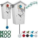 kookoo birdhouse klok wit
