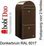 Brievenbus Bobi Duo donkerbruin RAL 8017_