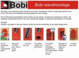 Brievenbus Bobi Trio zwartblauw RAL 5004_