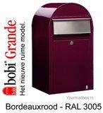 Brievenbus Bobi Grande bordeauxrood RAL 3005_