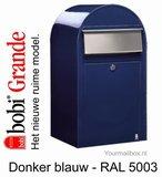 Brievenbus Bobi Grande donkerblauw RAL 5003_
