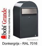 Brievenbus Bobi Grande donkergrijs RAL 7016_