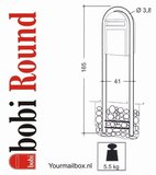 Bobi statief round donkerbruin RAL 8017_