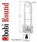 Bobi statief round structuurzwart RAL 9005_