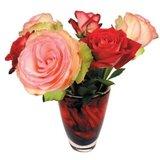 Raamsticker flat flowers rozen_