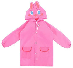 Regenjas kind konijn roze