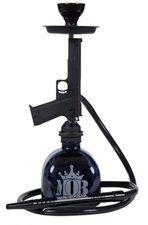 Waterpijp MOB Pistool zwart (50cm)