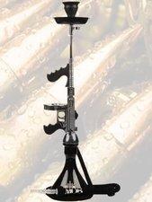 Waterpijp geweer MOB Tommy Gun zwart/chrome (85cm)