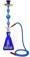 Waterpijp Luxor 1 slang blauw (77cm)