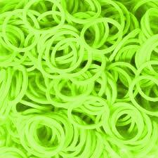 300 Loom bands fluor groen