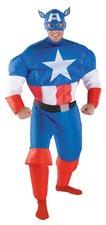 Opblaasbaar pak kapitein Amerika