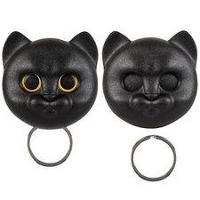 Qualy Neko kat sleutelhouder zwart