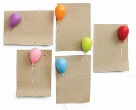 Qualy magneetjes ballonnen (set van 6 stuks)