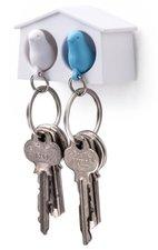 Qualy MINI sleutelkastje 2 vogels wit/blauw