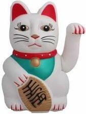 B-keus Gelukskat lucky cat Maneki Neko wit