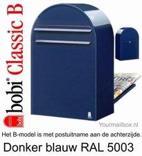 Brievenbus Bobi Classic B donkerblauw RAL 5003