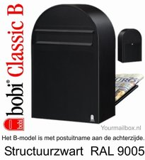 Brievenbus Bobi Classic B Structuurzwart RAL 9005