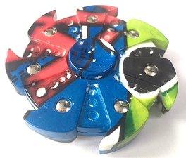 Bijzondere fidget spinner colors ninja 7 blades