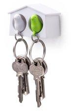 Qualy MINI sleutelkastje 2 vogels wit/groen