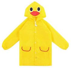 Regenjas kind eend geel