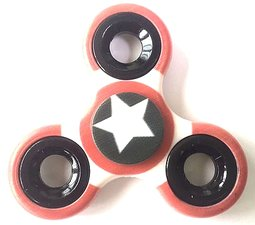 Fidget spinner white star