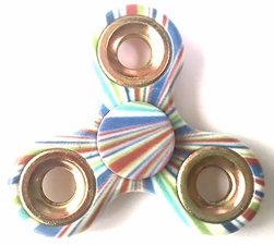 Fidget spinner stripes + golden rings
