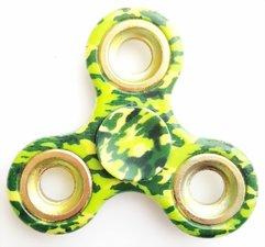 Fidget spinner camouflage groen/goud