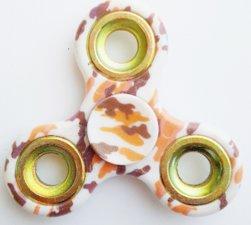 Fidget spinner camouflage dessert/goud