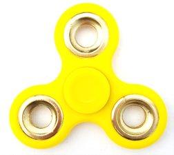 Fidget hand spinner geel + goud