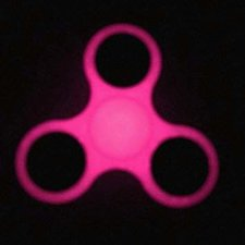 Fidget spinner glow in the dark roze