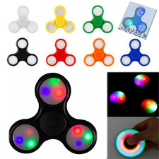 Rainbow LED fidget spinner geel
