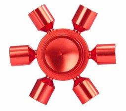 Fidget hand spinner 'sun' metaal rood