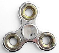 Fidget spinner metallic zilver/goud