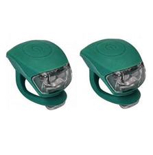 Urban Proof siliconen LED fietslampjes emerald